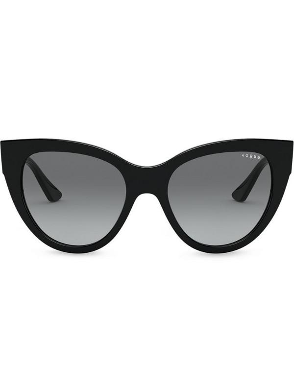 Vogue Eyewear oversized cats eye sunglasses in black