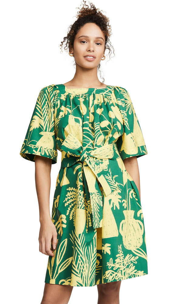 Whit Mira Dress in green / yellow