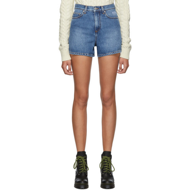 MSGM Blue Denim Bermuda Shorts