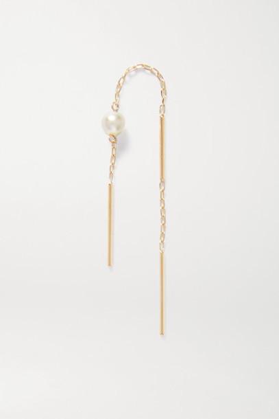 Hirotaka - Toggle Gold Pearl Earring