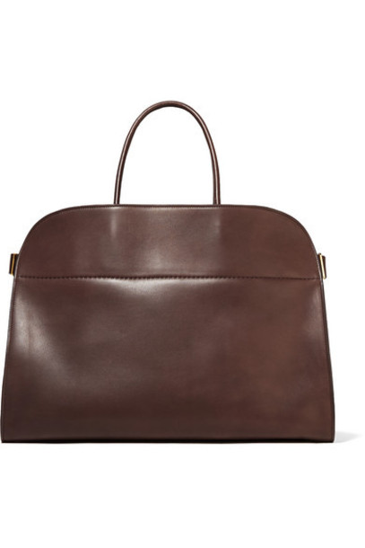 The Row - Margaux 17 Buckled Leather Tote - Brown