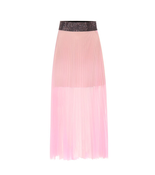 Christopher Kane Embellished pleated skirt in pink