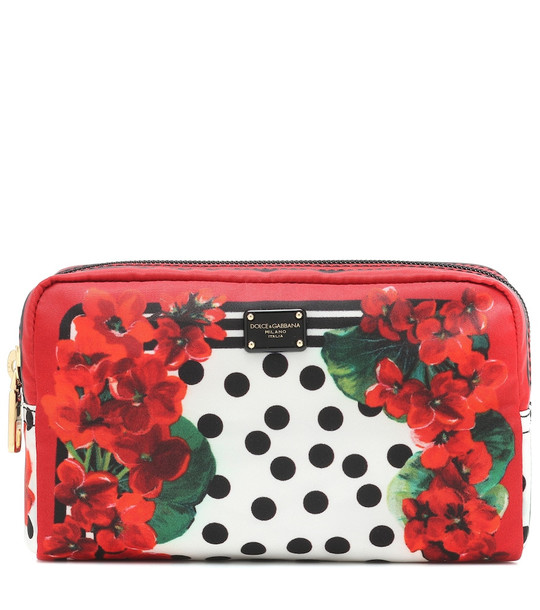 Dolce & Gabbana Printed nylon pouch in red