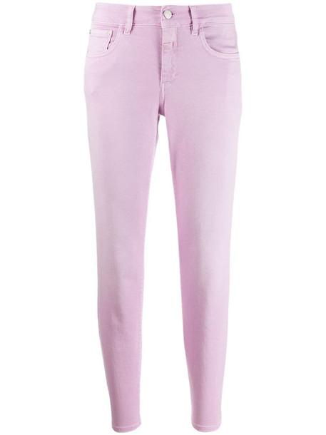 Closed slim fit jeans in purple