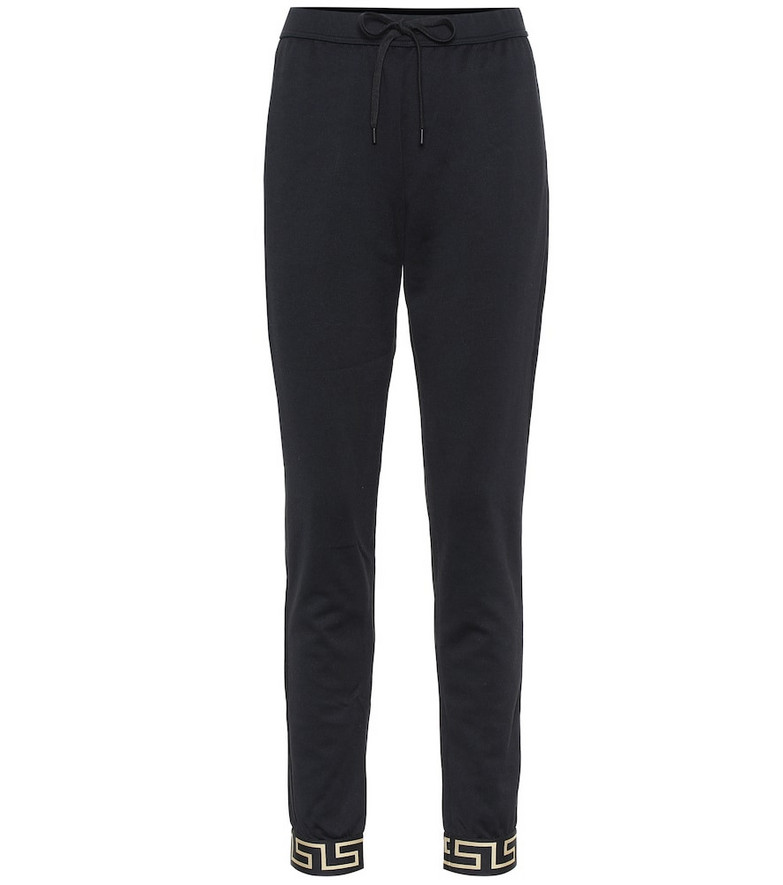 Versace Cotton-jersey sweatpants in black