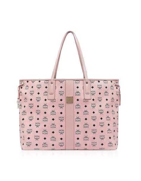 Mcm Visetos Large Reversible Liz Shopper in pink