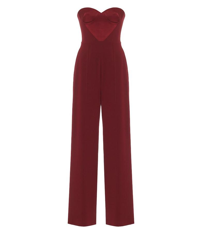 Alex Perry Brooke satin-crêpe jumpsuit in red