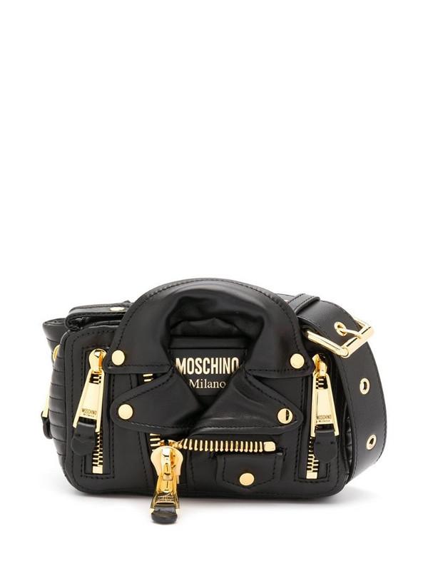 Moschino Biker belt bag in black