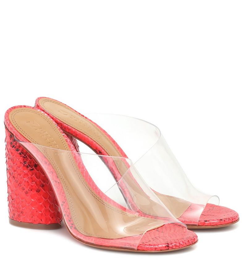 Mercedes Castillo Kuri snake-effect leather sandals in pink