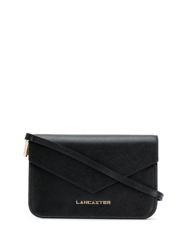 Lancaster foldover cross body bag in black