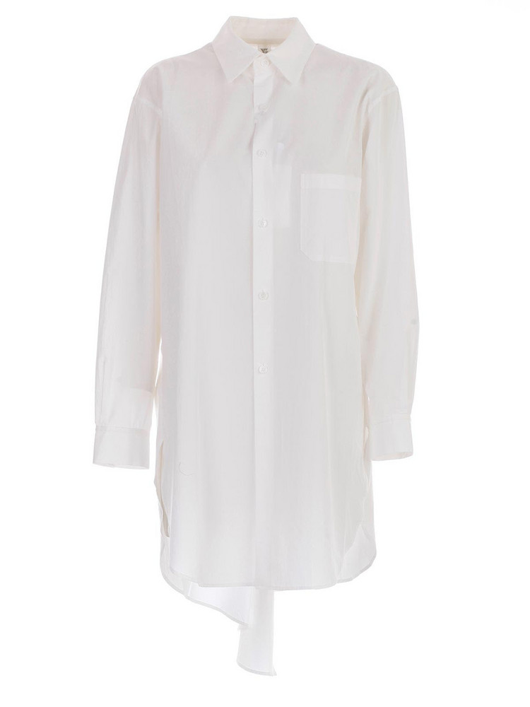 Y's Back Draped Shirt in white