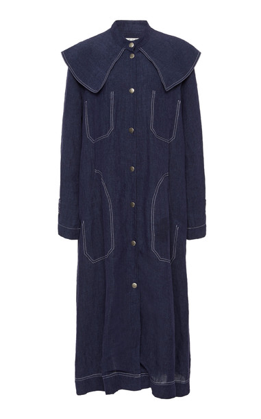Sea Maxine Linen Coat Size: XS