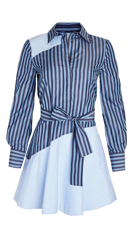 Derek Lam 10 Crosby Flora Assemetrical Shirt Dress in blue