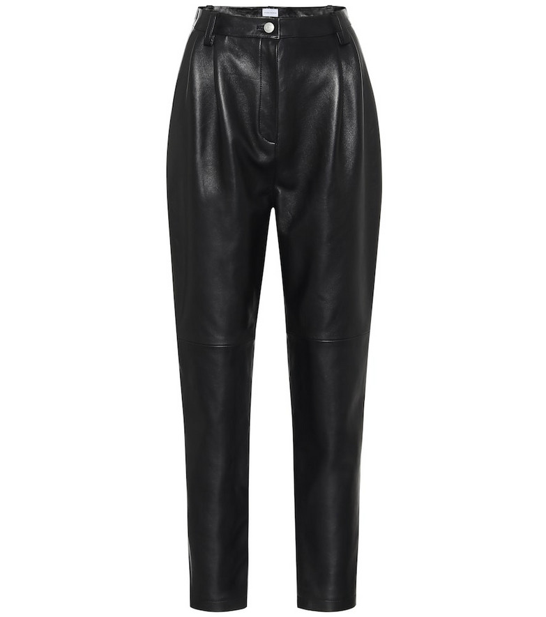 Magda Butrym Wembley high-rise leather pants in black