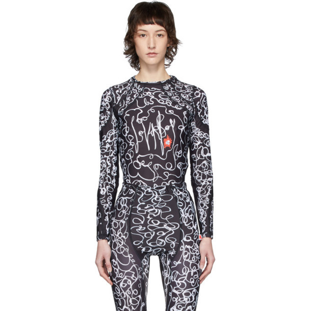 Charles Jeffrey Loverboy Black and White Scribble Sports T-Shirt