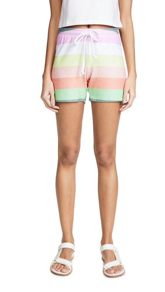 Wildfox Sorbet Stripe Cart Shorts in multi