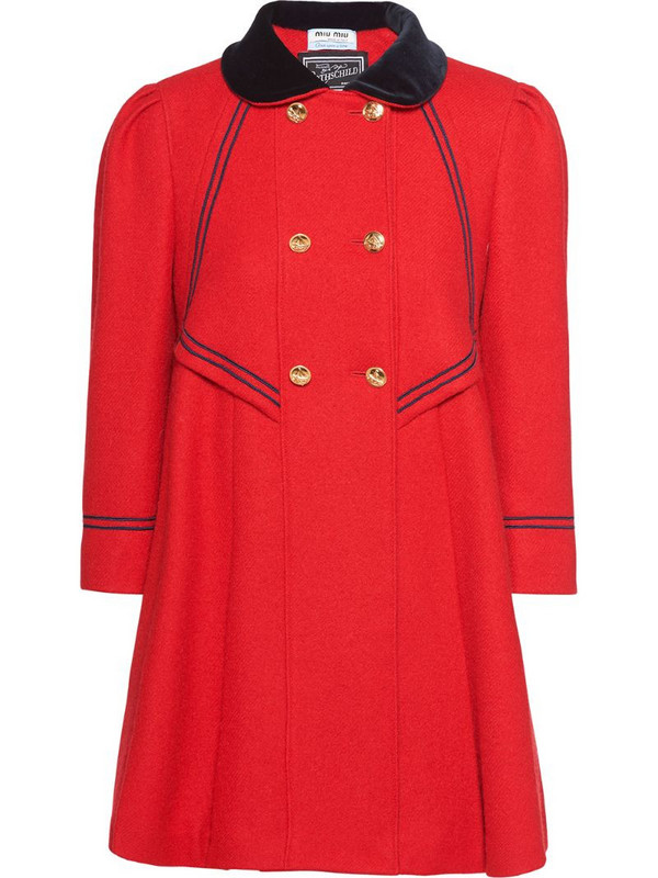 Miu Miu Once Upon a Time coat in red