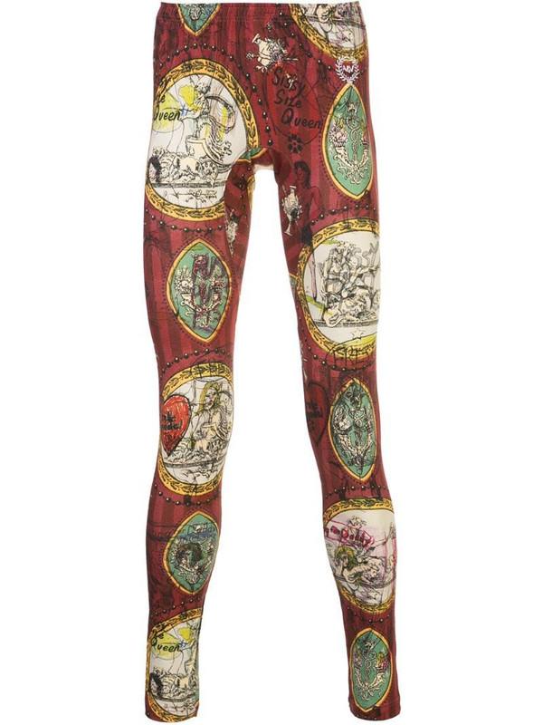 Vivienne Westwood Baseball wallpaper-print leggings in red