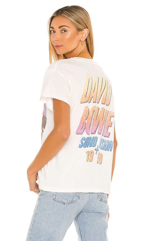 DAYDREAMER David Bowie Sound And Vision Tour Tee in Cream in white