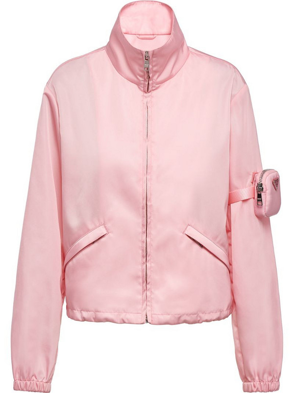 Prada Re-Nylon pocket-detail jacket in pink