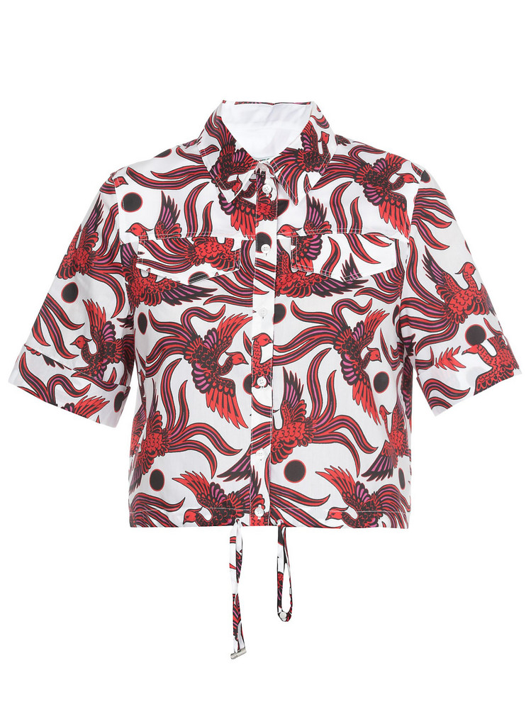 Kenzo Cotton Printed Shirt in red