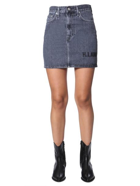 Helmut Lang Mini Skirt With Logo in denim / denim