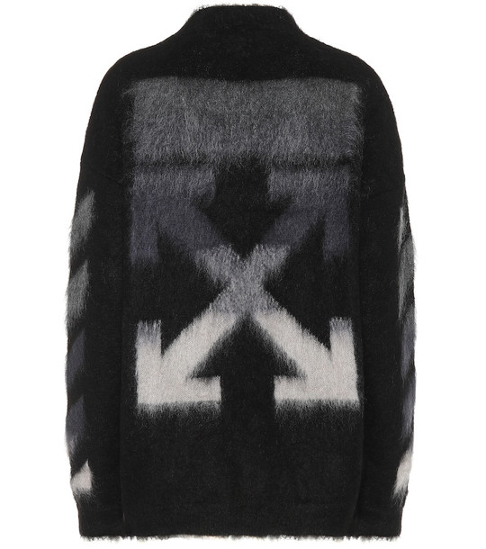 Off-White Mohair and wool blend sweater in black