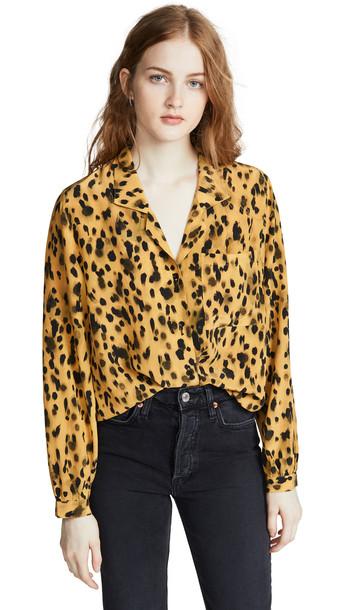 ANINE BING Lilah Shirt in leopard