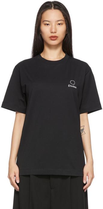 Études Études Black Wonder Logo T-Shirt