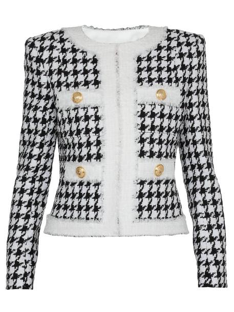 Balmain Houndstooth Jacket in black / white