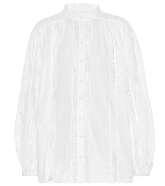 Zimmermann Suraya cotton blouse in white