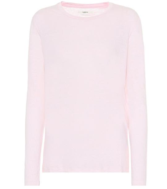 Isabel Marant, Étoile Kaaron linen top in pink
