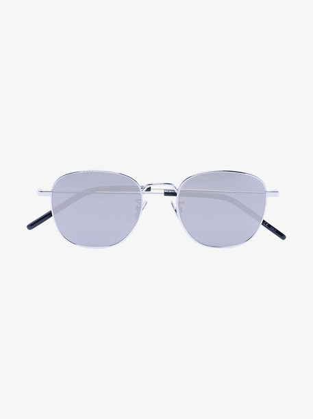 Saint Laurent Eyewear Silver Tone Metal Sunglasses