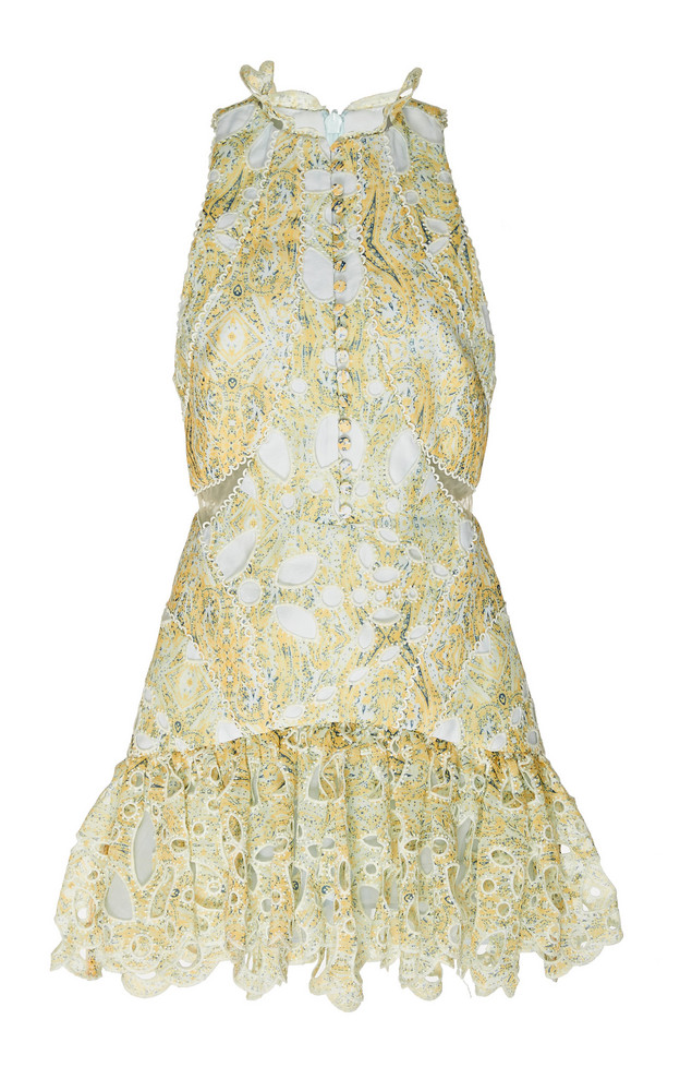 Acler Meredith Printed Lace Mini Dress in multi