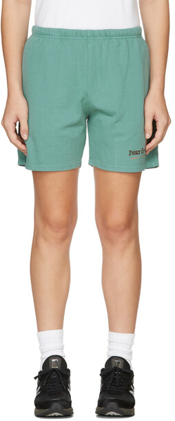 Museum of Peace & Quiet Blue 'Resort & Spa' Shorts in turquoise