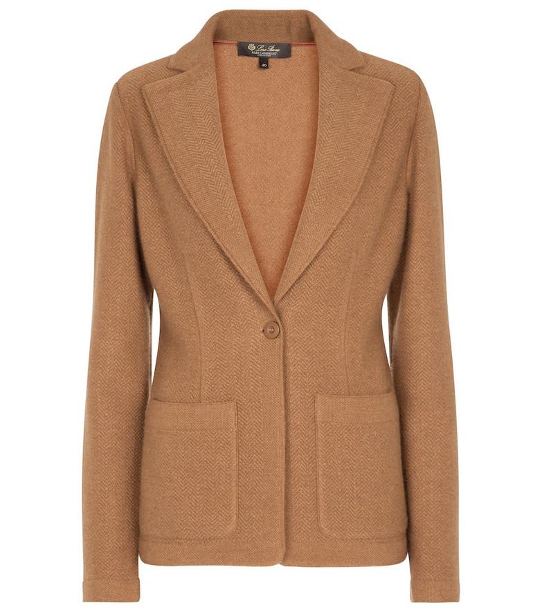Loro Piana Visconti cashmere blazer in brown