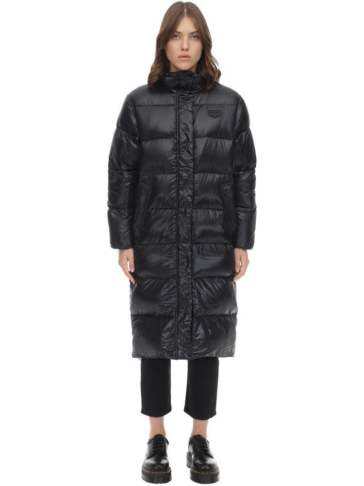 DUVETICA Yildun Long Nylon Down Jacket in black