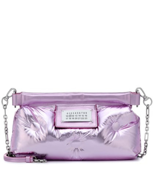 Maison Margiela Glam Slam quilted leather clutch in purple