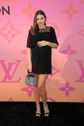 shoes,sandals,sandal heels,miranda kerr,maternity dress,celebrity,mini dress