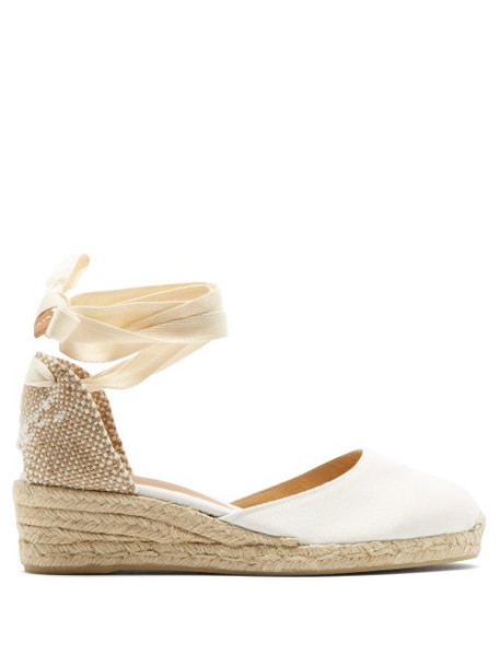 Castañer - Carina Wrap Around Wedge Espadrilles - Womens - White