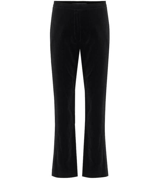 Costarellos Meliza high-rise velvet pants in black