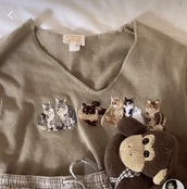 sweater,tia,cats,knitwear,knitted sweater,warm,winter outfits,beige