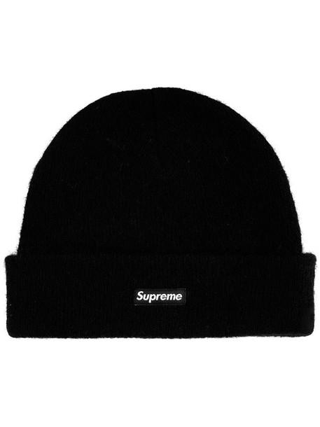 Supreme logo-patch beanie in black