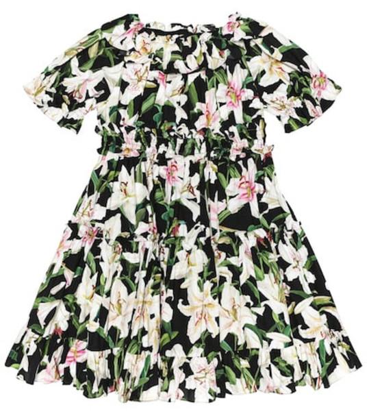 Dolce & Gabbana Kids Floral cotton dress