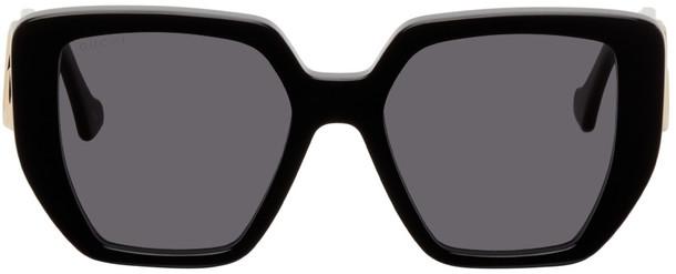 Gucci Black Rectangular GG Sunglasses