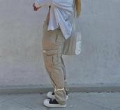 pants,beige pants,brand,cargo pants,beige,streetwear,streetstyle