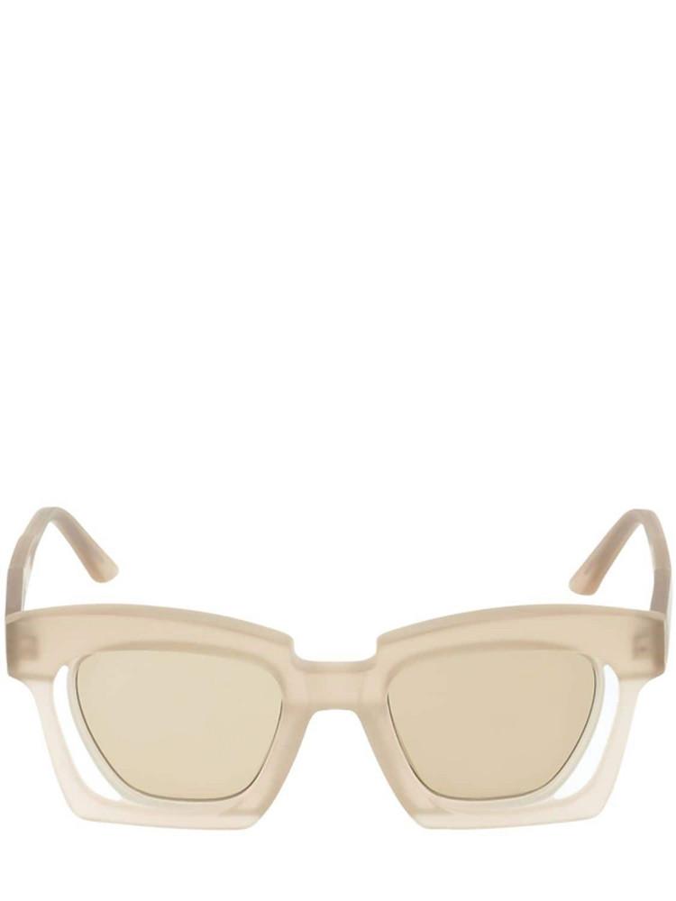 KUBORAUM BERLIN T3 Double Frame Acetate Sunglasses in brown / beige