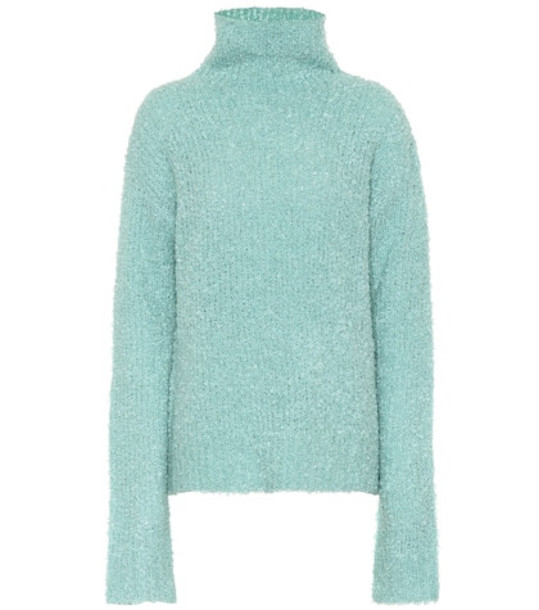 Sies Marjan Mohair and wool-blend sweater in green