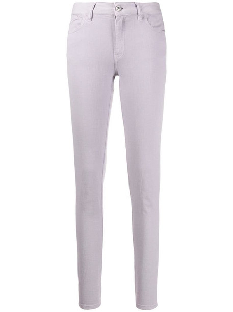 Just Cavalli mid-rise skinny jeans in purple