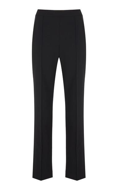 Rosie Assoulin Oboe Virgin Wool High-Waist Pants in black